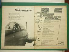 2/1968 PUB AVION AERONAUTICA MACCHI MB-326 MILITARY JET TRAINER ORIGINAL AD
