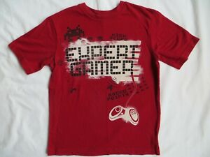 The Childrens Place Expert Gamer Video Gaming SS t-shirt TCP Red Boys M 7-8