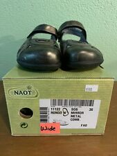 """NAOT """"Rongo"""" Women's Mirror Metal Leather Mary Jane's Size 36 Wide US 5"""