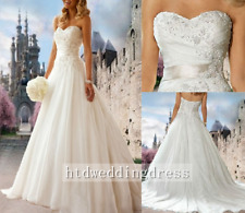 Custom Lace A-line Bridal Gown Wedding Dress 6-8-10-12-14-16-18++