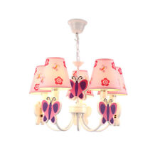 Kids Room Chandelier Girl Princess Bedroom Led Butterfly Lamp Ceiling Lighting