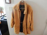 Vintage Wilsons Leather Jacket Adventure Bound Large Tan Coat