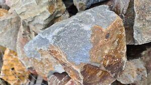 Bruchsteine Trockenmauer Natursteine Deko Grauwacke 20-50cm Mauersteine