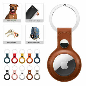 For Apple AirTag Leather Case Cover AirTags Tracker Keychain Sleeve Shell Skin
