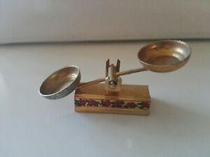 Vintage brass/latón old Balance, miniature dollhouse 70's ,rare