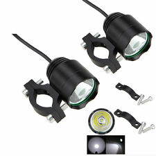 1 Pair 30W XM-L T6 LED Car MOTORCYCLE SPOT DRIVING FOG LIGHT Spotlight Black New