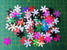scrapbooking embellishement die cut flowers  mixed x 100