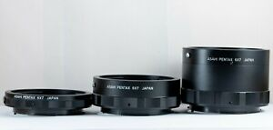 EXC+++ Asahi Pentax 6x7 Auto Extension Tube 67 Ring 1 2 3 Set