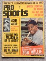 PRO SPORTS MAGAZINE September 1965. Baseball articles on Mantle and Namath.