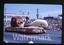 1963 kodachrome Photo slide Rose Festival Parade  Portland OR #12 moby dick