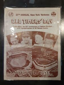 1973 New York Yankees 27th Annual Old Timers' Day Souvenir Program