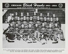 1953-54 CHICAGO BLACK HAWKS 8X10 PHOTO  PICTURE NHL HOCKEY BLACKHAWKS