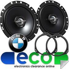 BMW X5 2000-2006 E53 JVC 17cm 600 Watts 2 Way Front Door Car Speakers & Brackets