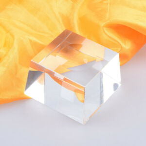 4cm Clear Square Dimple Crystal Ball Display Bases Table Holder Stand Home Gift