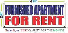 2x4 FURNISHED APARTMENT FOR RENT Banner Sign Red White & Blue NEW