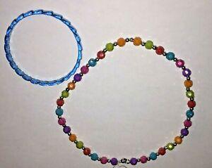 Girl kids jewelry Colorful Beads  Necklace &  Bracelet