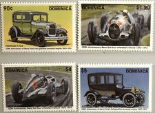 DOMINICA 1993 1687-90 Block 234-35 100th Ford Benz Race Cars Autos Rennautos MNH