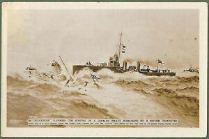 Royal Navy Destroyer HMS Ariel Ramming & Sinking German Submarine U12 March 1915