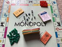 Vintage 1961 Monopoly Board Game Parker Brothers #9,complete Game