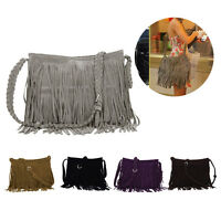 Women Girl Fringe Tassel Shoulder Messenger Cross Body Tote Handbag Shoulder Bag