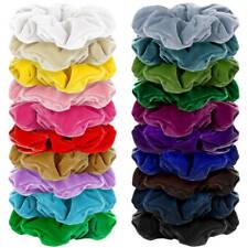 10x Velvet Hair Scrunchie Elastic Hair Bands Hair Ties Hair Bobbles Accessories