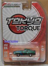 GREENLIGHT 2018 TOKYO TORQUE SERIES 3 1970 DATSUN 240Z RALLY GREEN MACHINE W+