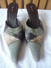 KG by Kurt Geiger mule shoes with leather, jean and snake effect size 40 excon