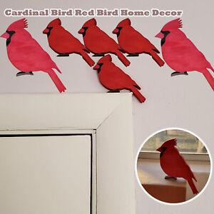 Lovely and Colorful Bird Red Bird Home Decor Door Frame Window Sill Home Decor