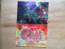 1995 BILLY TUCCI'S SHI CHROMIUM CARD #22 STEEL HORSE SIGNED BY CREATOR, WITH POA