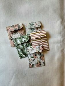 Mini Handmade coin envelopes various designs envelope pocket journals happy mail
