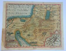 HOLY LAND 1607 MERCATOR HONDIUS ATLAS MINOR NICE ANTIQUE MAP