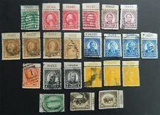 #552 - 569....23..w/ plate numbers... a few hinged..w/minor faults