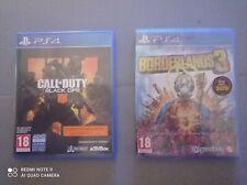 BORDERLANDS 3 y CALL OF DUTY BLACK OPS 4 en formato Físico para JUEGOS PS4