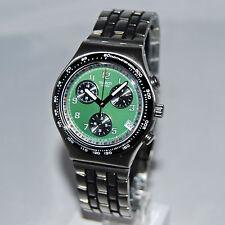 swatch irony chono green nectar ycs493g raro orologio vintage da collezione nero