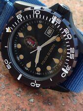 North Eagles Polizia Di Stato Vintage Military Quartz Diver Watch Eta 555.415