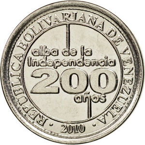 [#98219] Venezuela, 25 Centimos, 2010, Nickel plated steel, KM:99