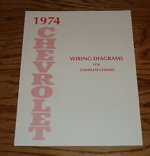 1974 Chevrolet Passenger Car Wiring Diagrams Complete Chassis 74 Chevy