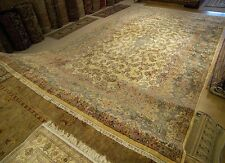 12 x 21 Handmade Antique Persian Kerman Wool Rug _Full Pile_ Excellent Condition
