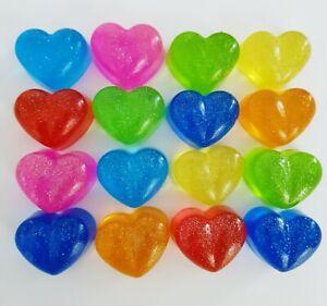 MINI HEART GLITTER SOAPS, PARTY, WEDDING,BIRTHDAY FAVOUR,XMAS,KIDS NOVELTY SOAP