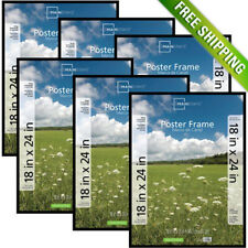 Mainstays 18x24 Basic Poster Picture Frame, Black, Set of 6 Photo