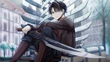 Anime  Attack On Titan Levi Ackerman Silk Fabric Poster 24X14 inch