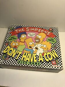 The Simpsons - 30 YRS OLD! Don't Have A Cow Game - COMPLETE! -Game Board - 1990