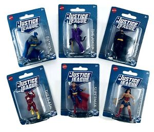 """Justice League 3"""" Action Figures Lot of 6 NEW in Package Mattel DC Comics"""