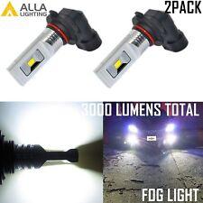 AllaLighting 9006 3000LM LED 6000K White Driving Fog Light Lamp Bulb Replacement