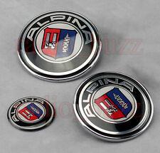 KIT - 3 Badge ALPINA BMW - Embleme - Capot+Coffre+Volant LOGO Insigne 82/73/45mm