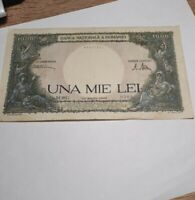 Old Romania banknote 1000 lei age 1945