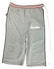 Vintage ROCAWEAR Fleece Athletic Sweat Shorts Mens Large Gray White Cotton Blend