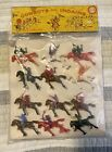 VINTAGE COWBOY AND INDIANS Plastic MADE IN HONG KONG With ERROR SPELLING