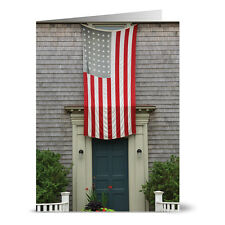 24 Note Cards - Old Glory - Red Envs
