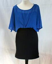 Robe bleue et noir esprit 80's t. 38